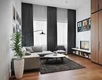 Modern Apartment Design. 3d Visualization