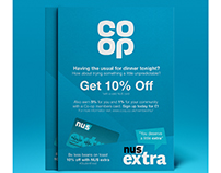 CO-OP NUS Extra & Membership Card Posters