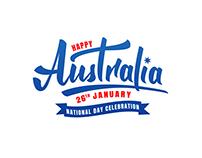 Australia Day lettering logo