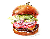 Burger / Food illustration