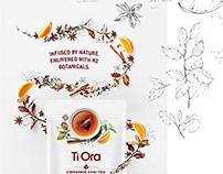 Illustrated campaing for Ti Ora Premium Teas
