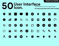 FREE User Interface Glyph Icons