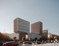 Residential complex in Moscow.