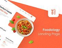 (Freebies) Foodology Website Landing Page UI Kit