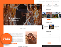 Graffy - photography web psd template free download