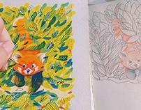 The Postcard Series: Spirit Animals #1