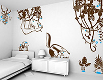 tutti frutti :: children's wall decals