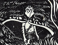 Lino prints-Neverending Story
