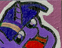 Twilight Sparkle Canvas Magnet / Pin