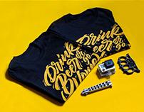 Lettering T-shirt Drink beer or go home