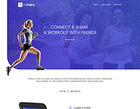 Fit Pairs App Landing Page