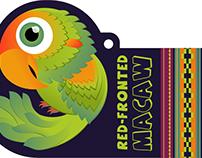 Macaw Plush Hangtag