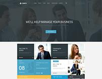 Zemta Website Home Page Design