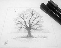 dotwork tree