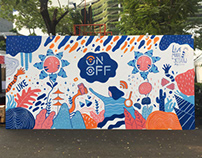 Mural at ON OFF Festival