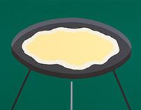 Jajecznica na grillu