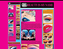 """Beauty is my name"" blog home page concept layout."