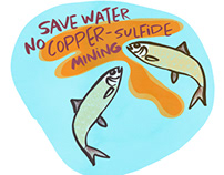 Save Water, No copper sulfide mining, industrial