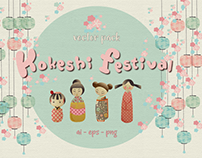 Kokeshi Festival Illustration Vector Pack