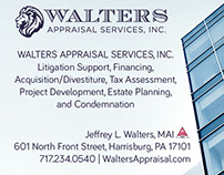 Walters Appraisal Services Print Ad