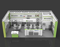 "Exhibition kiosk for ""Enerbis"" company"