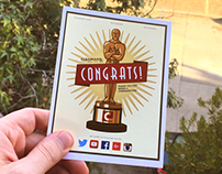 Cinemark Contest Congrats Card Insert