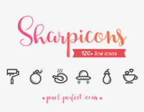 120 Line Vector Icons Freebie