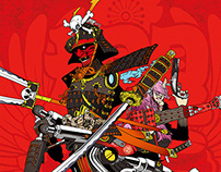 BU X HI Samurai painting