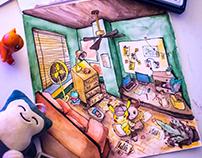 Detective Pikachu & Eevee Room Design