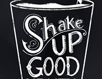 Shake Up Good Health Chalkboard Art
