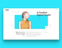 Bold Creative Homepage
