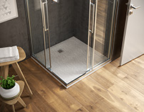 shower tray interior