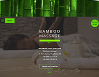 Landing page for massage salon