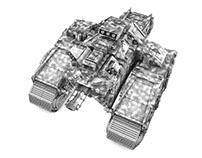 TCK Tank hunter - Miniature concept