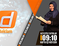 REKLAM JENERİĞİ VE PROGRAM TANITIM TASARIMI - DOST TV
