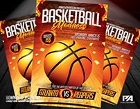 Basketball Madness Flyer Template (download .psd)