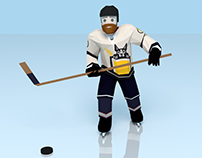 Low Poly Hockey Player