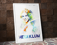 Abstract Portrait of HEIDI KLUM