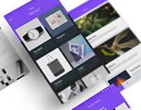 Chicamond e-commerce app interface design