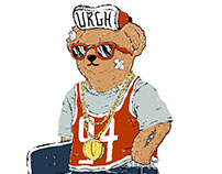 Skater Bear by Urgh