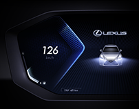 2019 Lexus ES 300h Cluster Concept GUI