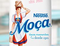 LEITE MOÇA new typography