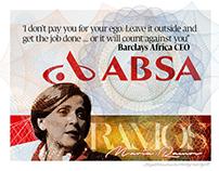 ABSA bank illustration - Editorial work