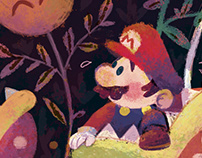 The Princess and the Plumber - Super Mario N.Y. Artshow