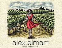 Alex Elman Wine Label Illustrations by Steven Noble