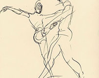 Ballet rehearsal,  sketches