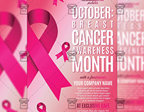 Breast Cancer Awareness Month - Community A5 Flyer