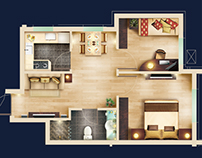 2D Floor Plan - Free PSD blocks Kit