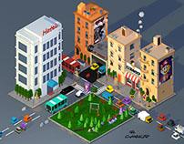 Lowpoly Neighborhood