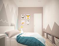 Дизайн интерьера для квартиры 72 м2